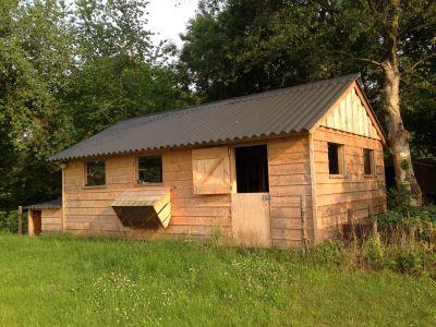 Veranda + tuinhuis + houtbouw